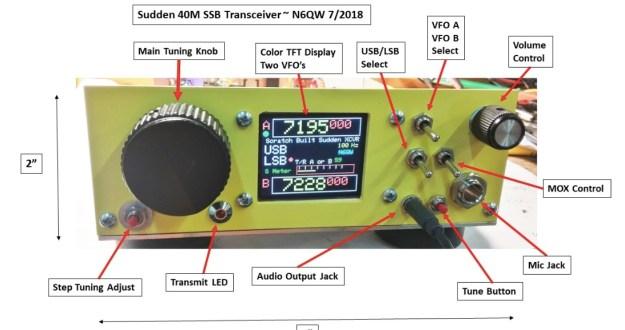 N6QW introduces the Sudden QRP SSB Transceiver