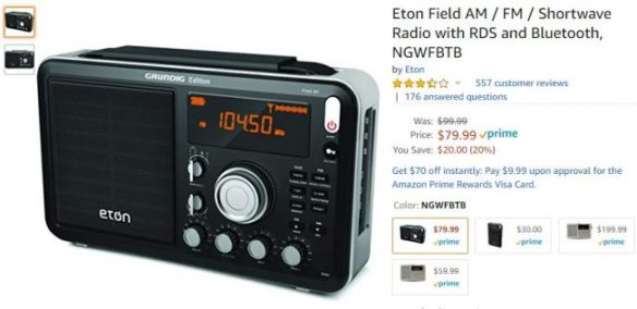 5d9be79e848 Radio Deal: Eton Field BT for $79.99 shipped