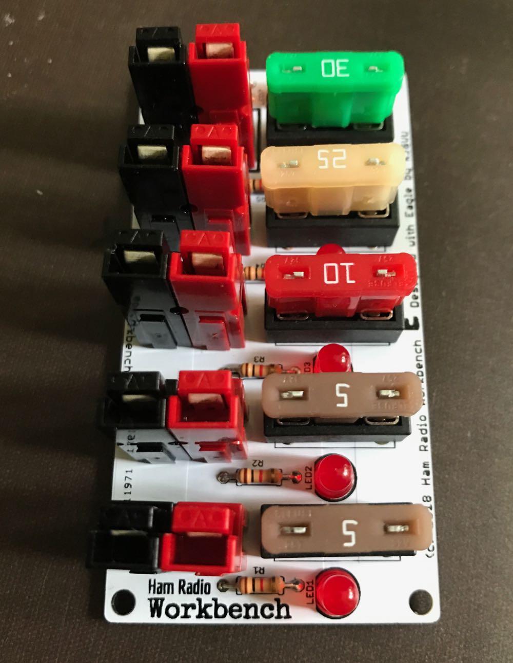 The Ham Radio Workbench 12 VDC Power Distribution Strip Kit