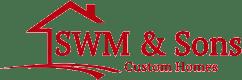 SWM & Sons Custom Homes Logo