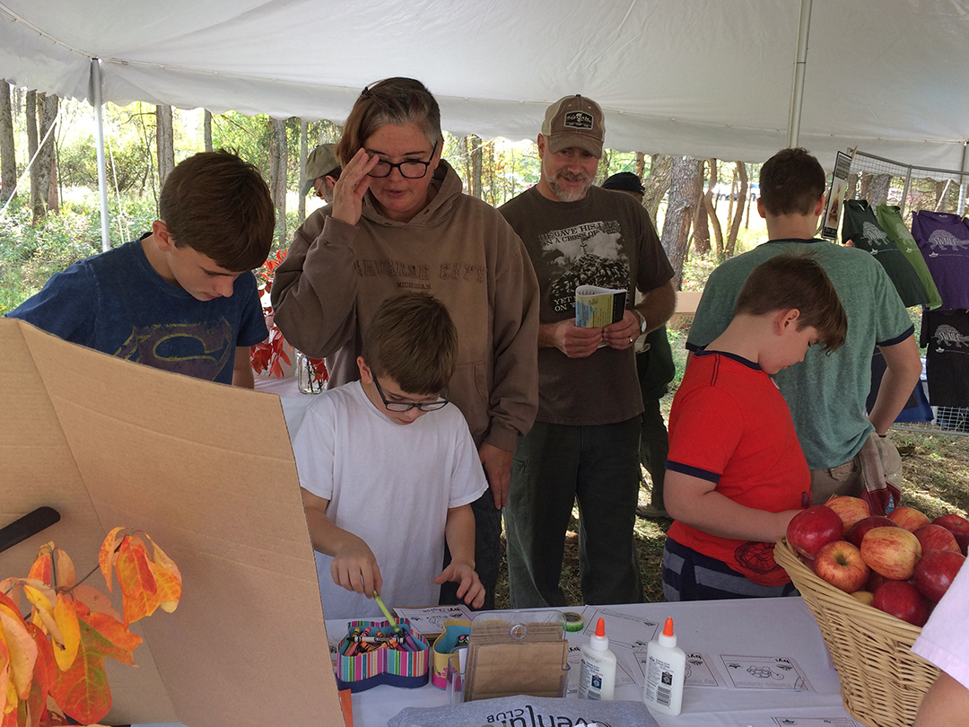 Julie Collard of Little Adventurers' Club, provided snacks and activities for kids.