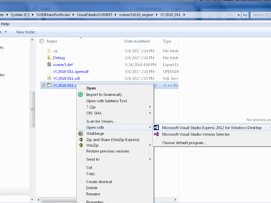 For Thesis Students: Visual INSTRUCTIONS FOR COMPILING SWMM5 DLL