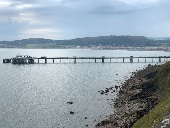 View of Llandudno Pier from the Great Orme Coastal Path