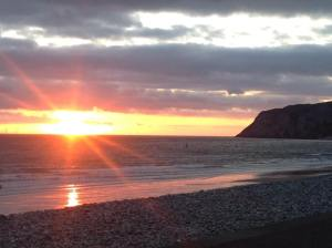 Sunrise in Llandudno providing a glimmer of hope for tourism businesses hoping to reopen on the 13th July