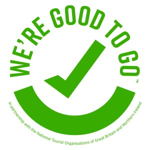 The Good to Go logo confirming that the Swn Y Mor is ready to open following COVID-19!