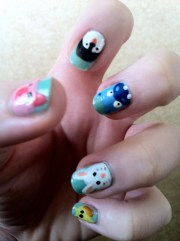 nail art animal faces