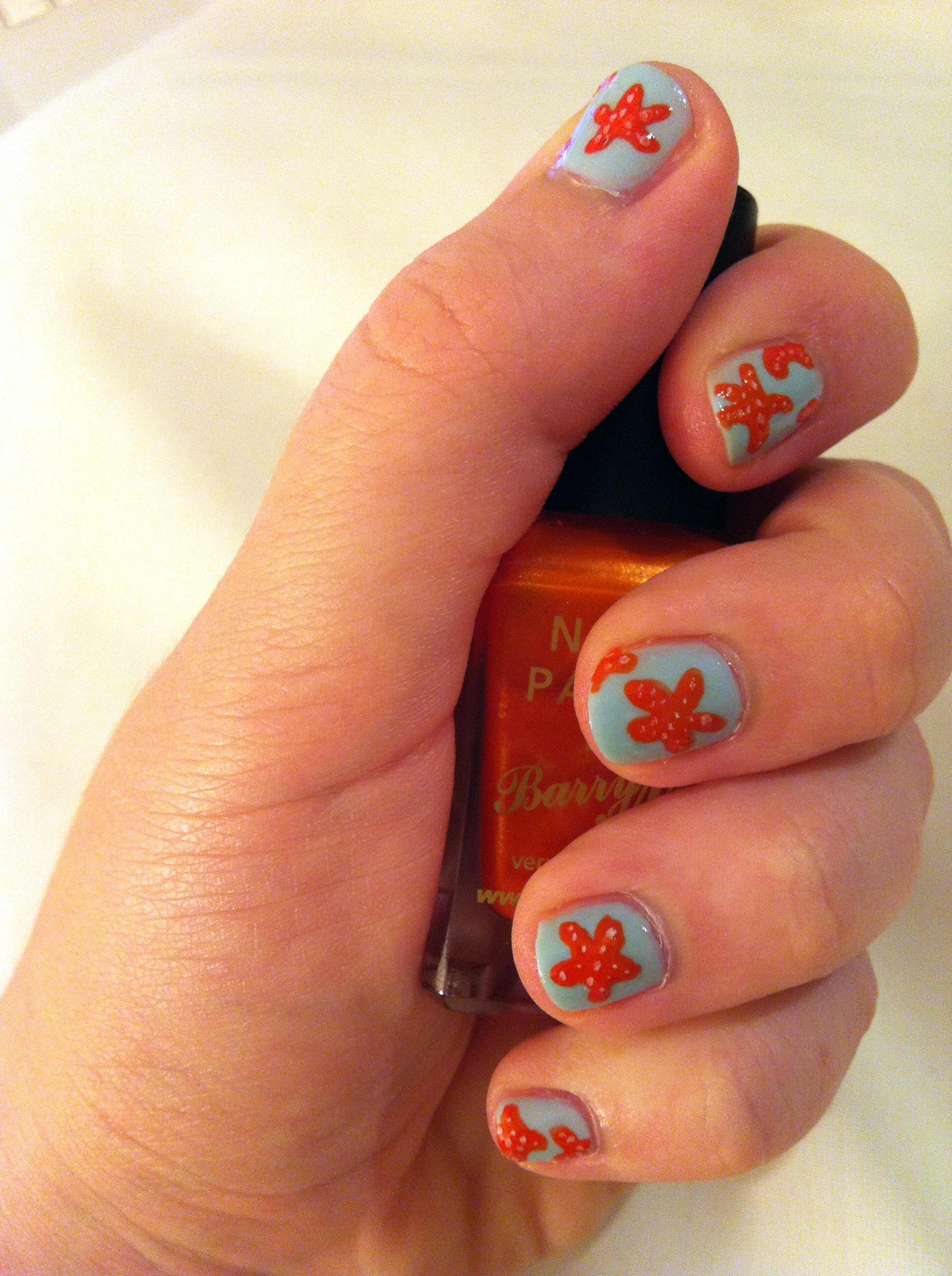 Nail Art: Starfish!