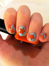 Nail Art: Starfish!