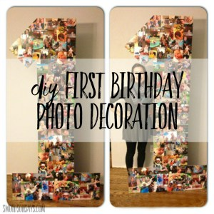 First Birthday Party Prep! A Cheap Photo Display