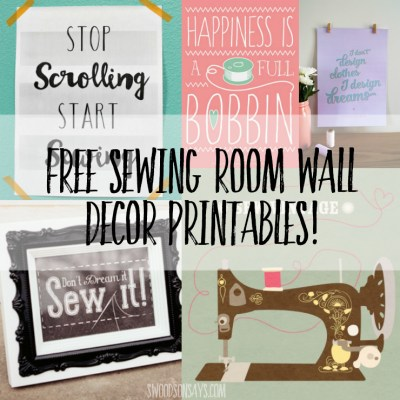 Looking for DIY sewing room decor? Check out this list of 10+ FREE sewing printables, perfect to frame and hang in your craft room. #craftroom #sewingroom #freeprintable #walldecor #sewing