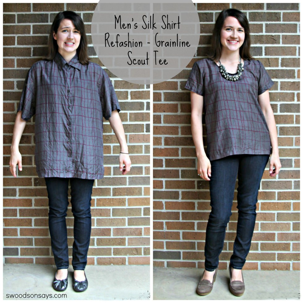 Men's Shirt to women's shirt refashion