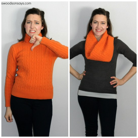 how to upcycle cashmere sweater