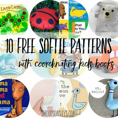 10 Free Stuffed Animal Sewing Patterns + Coordinating Kid Books