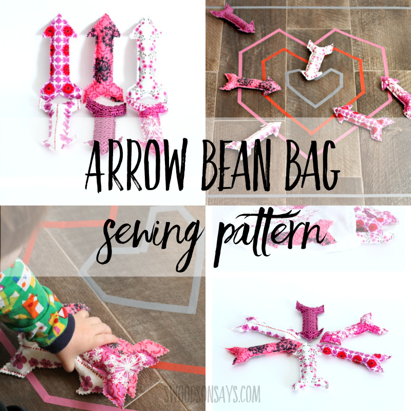 arrow bean bag sewing pattern