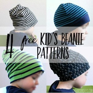 4 Free Knit Beanie Hat Sewing Patterns – Tested!