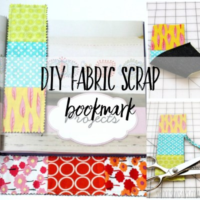 Easiest way how to make a fabric bookmark