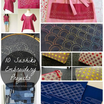 A round up of different sashiko embroidery patterns! Links to free sashiko patterns, sashiko tutorials, and loads of inspiration. This traditional hand embroidery technique can look modern and fresh, and is so relaxing to do. #embroidery #handembroidery #sashiko