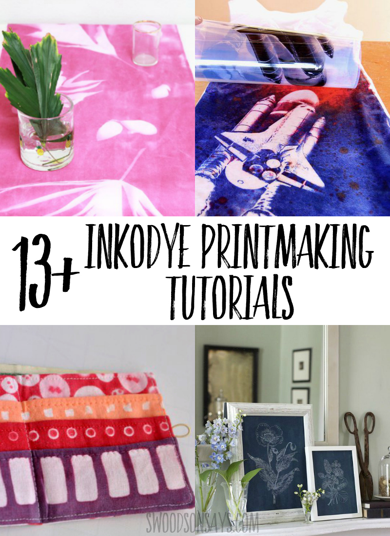 Try printmaking with sunshine! Check out this list of Inkodye ideas to try out with this fun dye material. A great summer craft to personalize a shirt or make fun diy wall decor. #crafts #diy #dye