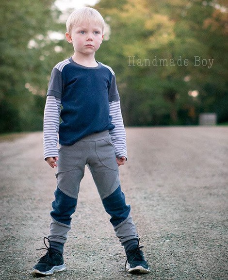 colorblocked sewing pattern for boys