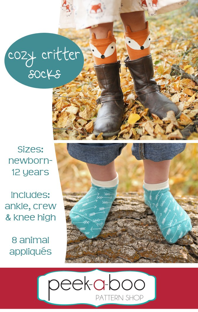 cute sock sewing pattern for kids