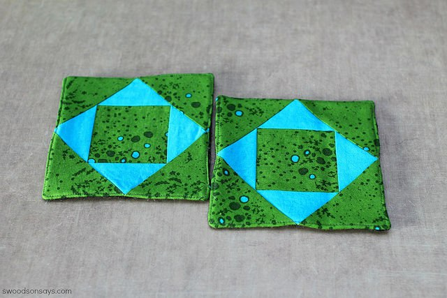 paper pieced coaster diy