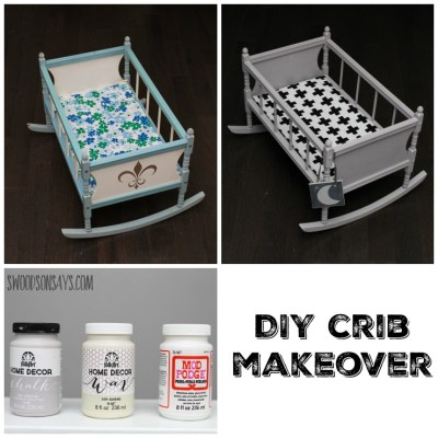 DIY Doll Crib Makeover with Chalk Paint & Mod Podge