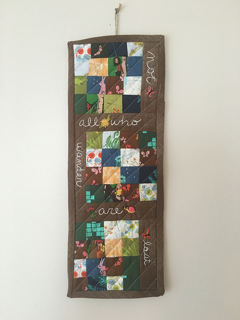 embroidery and quilt wall hanging
