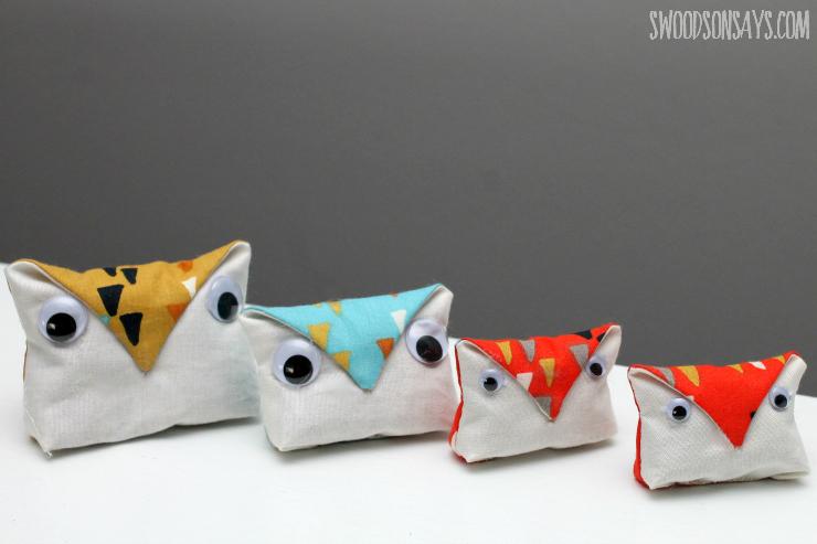 Hand sewn owl softies