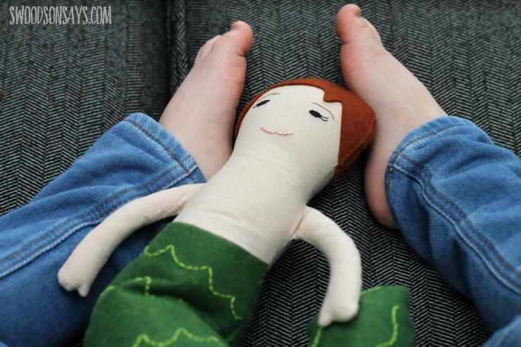 Handmade merman doll
