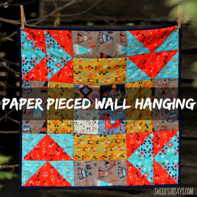 A paper pieced wall hanging - made from one big quilt block! The free pattern is from Sew What Sherlock and it is a great intro to paper piecing.
