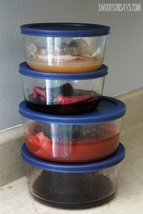 food dyes in pyrex