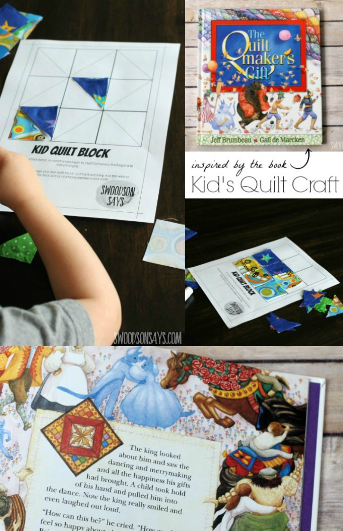 Kid S Quilt Craft An Activity With The Quiltmaker S Gift Book