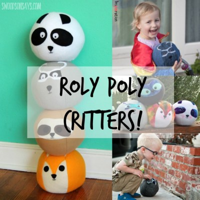 Roly Poly Critters are a softie sewing pattern. Make a panda, sloth, raccoon, and fox that are perfect for snuggling, playing, and throwing! They are cute stuffed animals that roll.