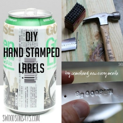 DIY Stamped Metal Labels – Try Something New Every Month