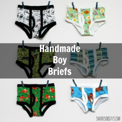 Why buy scratchy, stiff undies when you can sew your son some handmade underwear? I'm sharing the handmade boy briefs I made with the 'Captain Underpants' pattern from Momma Quail Patterns. Perfect thing to sew for boys, and uses up fabric scraps easily!