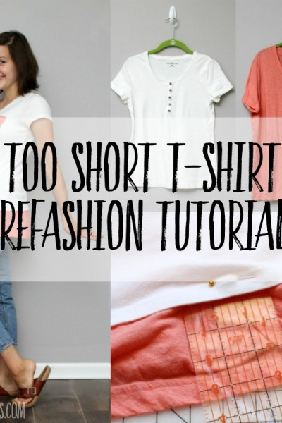 how to make a tshirt longer