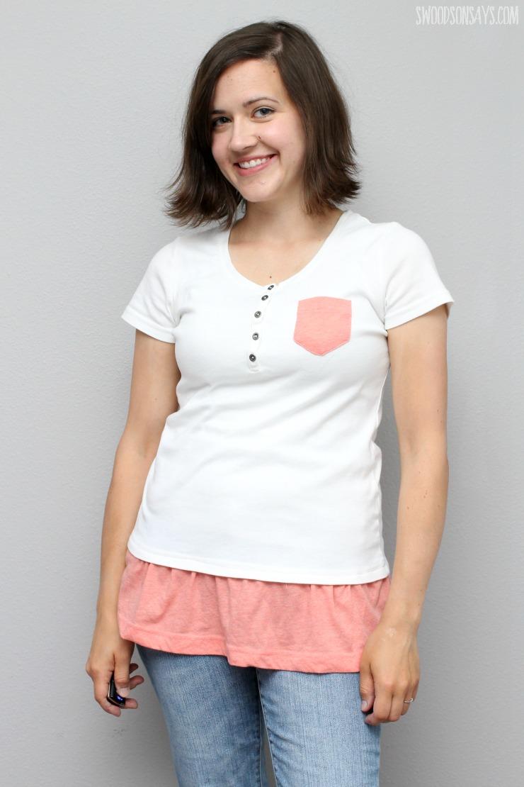 simple tshirt refashion