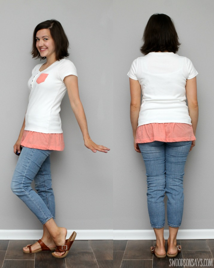 tshirt refashion tutorial