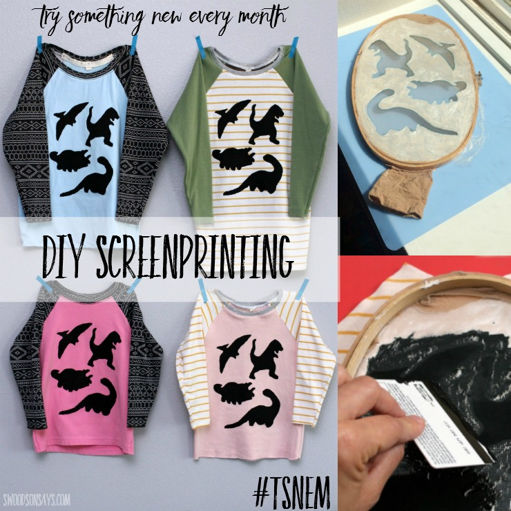 Think screenprinting has to be hard? I tried it at home, using an embroidery hoop and pantyhose! Check out the other materials I used, and how the shirts turned out. Such a fun and easy printmaking technique.