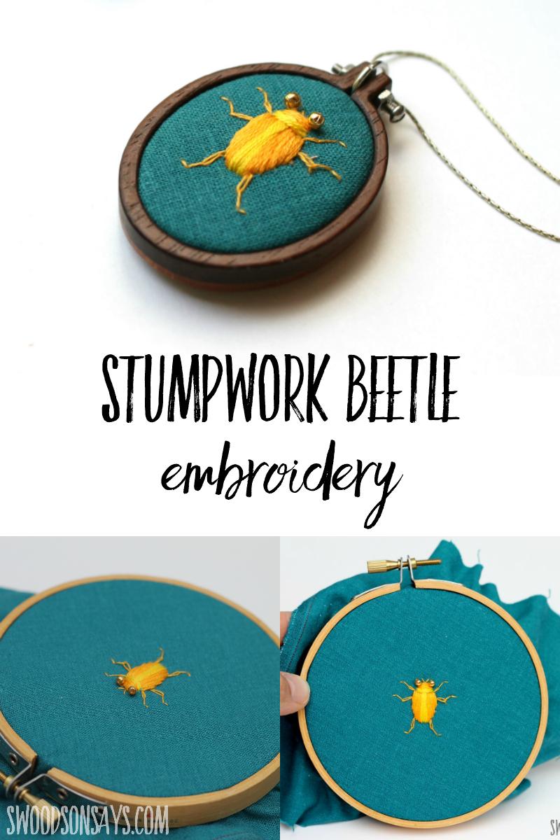 bug embroidery
