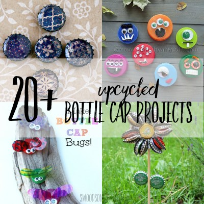 20+ bottle cap crafts for kids & adults