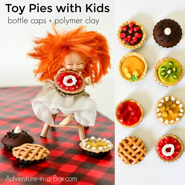 make-miniature-pies-with-kids-from-polymer-clay-and-bottle-caps-fb