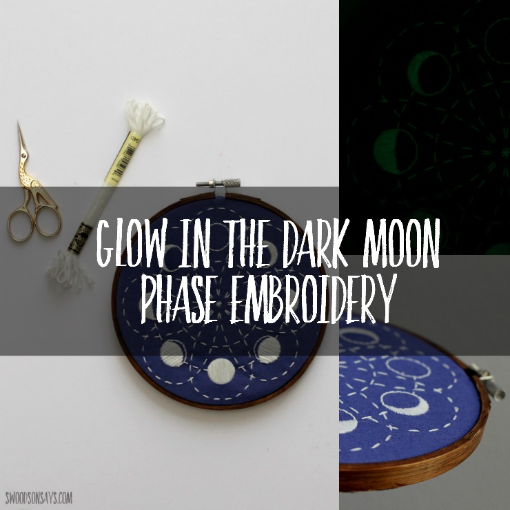 moon embroidery pattern