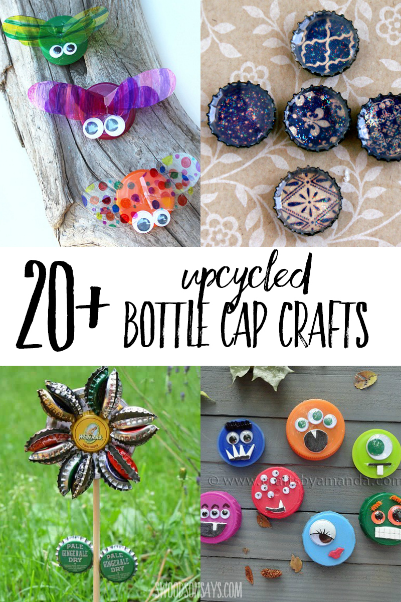 upcycled bottle cap projects