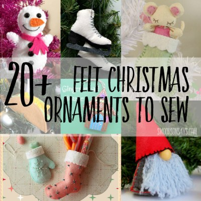 20+ Cute Felt Christmas Ornaments To Sew
