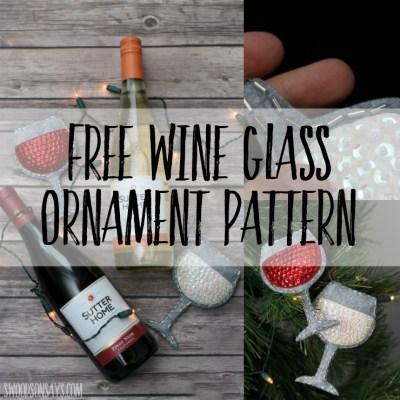 Sew A Felt Wine Glass Ornament – Free Pattern!
