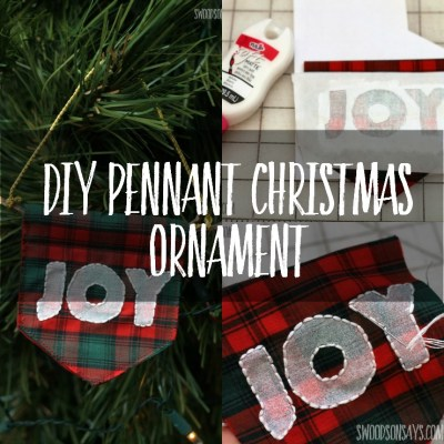 Embroidered Pennant Christmas Ornament Tutorial