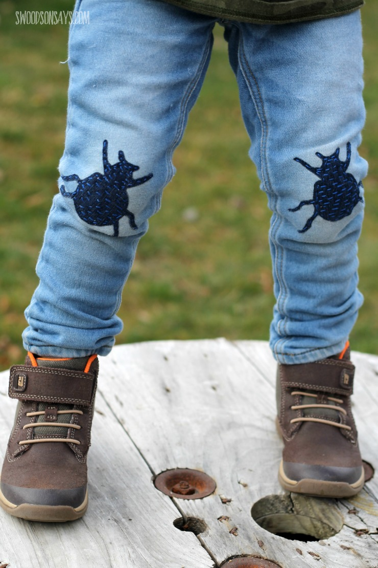 bug knee patches for kids diy