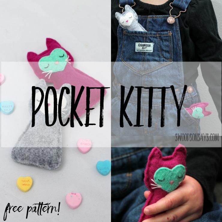 Free Cat Sewing Pattern - Felt Pocket Kitty! - Swoodson Says f7f645355