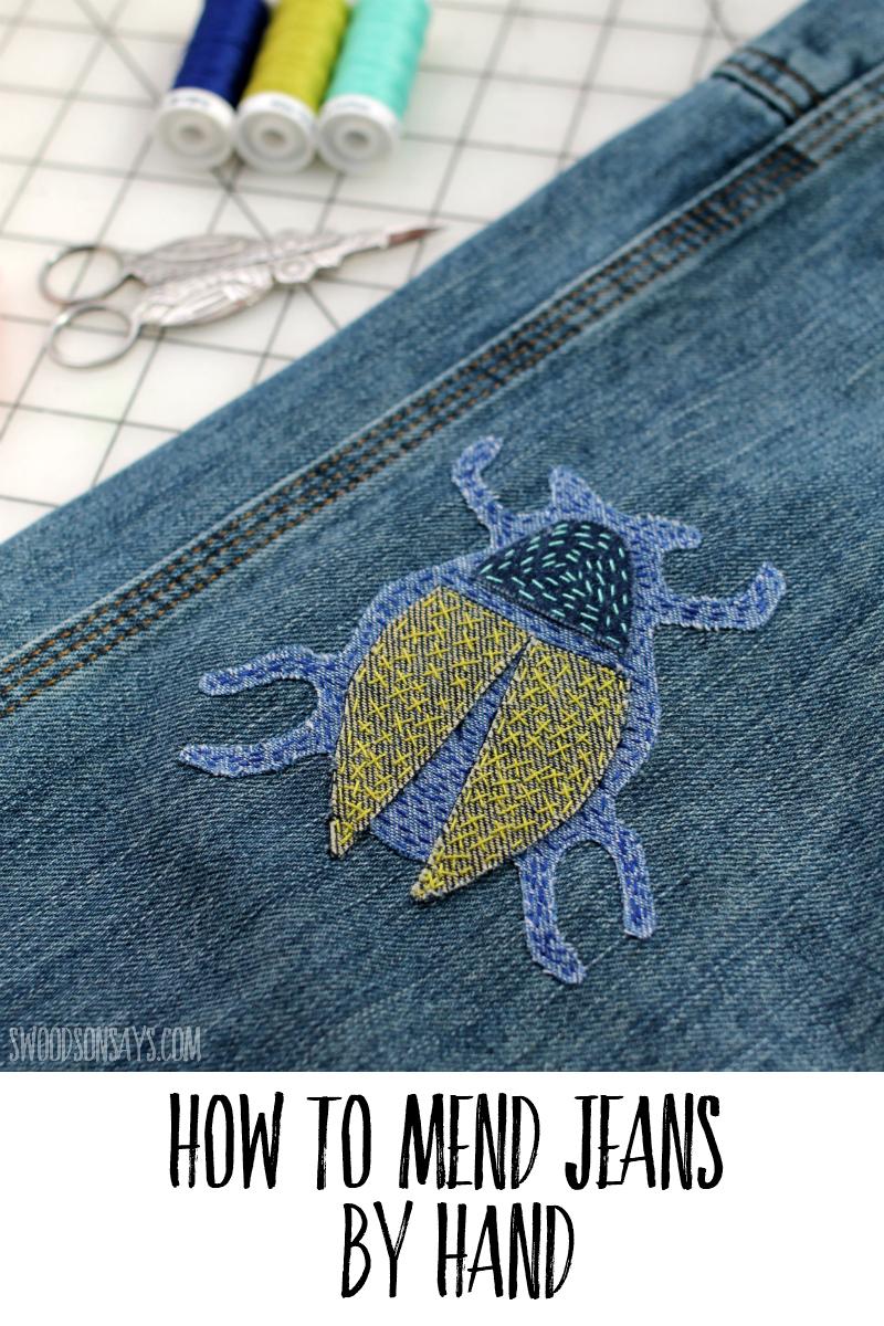 jeans mending tutorial